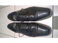Jones Bootmaker Mens Black Leather Shoes Size 11