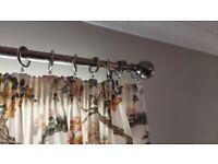6 ft antique brass curtain pole