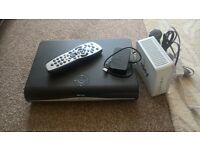Sky HD box with catch up and WIFI router
