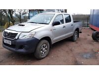 2013 Toyota hilux invincible d4d double cab damaged salvage not recorded with most parts bargain
