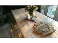 Real reclaimed wood dining table, chubby chic, rustic