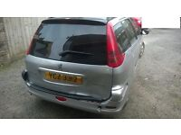 Peugeot 206 Estate for Sale as whole or parts