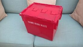 Hard plastic storage box