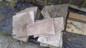 Free 2 piles of broken slabs various sizes