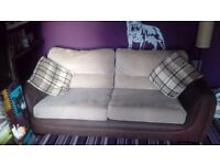 3 and 2 seater settee and foot stool