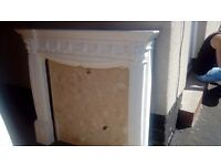 Free Marbel hearth and back panel for fireplace