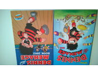 The Dennis The Menace Annual Book 1998 & 2002 Dennis The Menace Gnasher Bash Street Annual