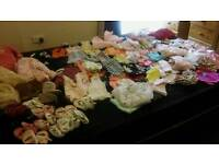 HUGE BABY GIRLS CLOTHING BUNDLE AGED APPROX 6-18 MONTHS 100+ ITEMS