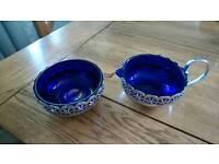 Vintage Cobalt blue glass bowls