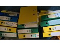 ring files for paperwork x 18 good reuseable condition