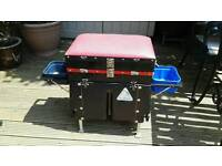 Match Fishing tackle box with adjustable feet and plenty of storage compartments
