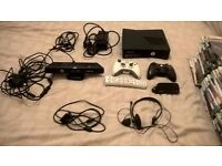 XBOX 360 Slim with Kinect and 60 Games £140ono