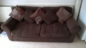 BROWN SOFA BED IN VERY GOOD CONDITION