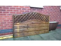 Premium Slatted Fence Panel .