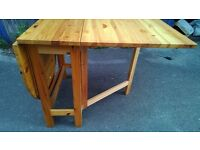 Solid Drop Leaf Dining Table 2 way Design