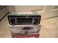 Retro Style Car Stereo FM USB SD Aux