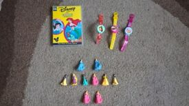Disney Princess figures, PC Game and 3 watches with a light.