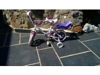 "Girls Rayleigh Starlight 12"" First Size Bike Bicycle"