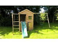 wendy house and climbing frame/swing Dunsterhouse