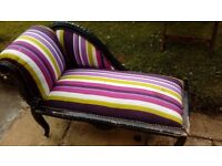 Miniature chaise longue for renovation/upcycle.