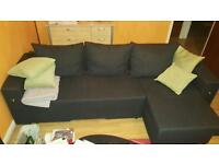 Corner sofa with changing side option