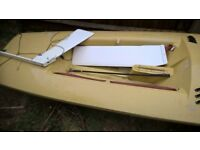 Minisail class sailing dingy hull and foils