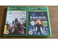 2 games that can be played on XBOX ONE....Assassins creed/Mass Effect(xbox360)
