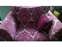 Large Pink DFS SOFA and Large Armchair