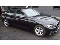 BMW 320D EFFICIENTDYNAMICS 4 DOOR SALOON, 62 reg NEW SHAPE, BLACK, 1st CLASS ORDER, PERFECT DRIVER