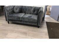 Plush Velvet Florence sofa | 3+2 Seater In Grey Colour |