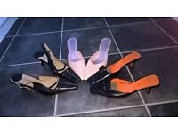 Ladies shoes - Pink Size 4 Jasper Conran, Size 5 Hillard and Hanson and Size 5 Nine West for sale.