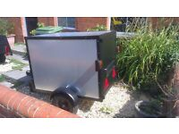 secure box trailer 1.5mm sheet steel construction