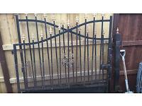 Driveway iron gates