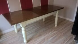 Country cottage dining table