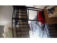 black metal bunkbeds with almost new mattresses