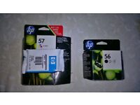 HP 56 Black & HP57 Tri-Colour Original Ink Cartridges. Brand new in sealed wrappers