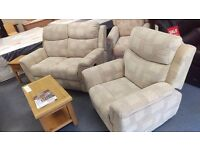 1+2 Sofa Set - shop stock - As new condition - Recliner