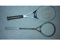 Wilson tennis racket and squash
