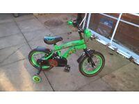 Teenage mutant ninja turtle bike with stabilisers