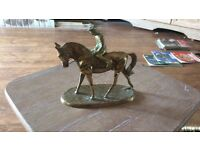 Solid brass equestrian horse