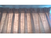 Large beige curtains - would fit bay window