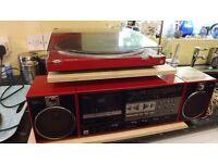 panasonic red stereo system very rare