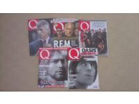 Large collection of Q music magazines (225) for sale from 1995-2015