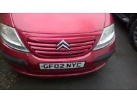 Red Citreon C3 - good runner, needs bodywork, serviced Apr 17 short MOT/Tax