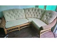 Cane corner sofa