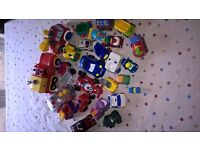 Bundle of toy cars including Rory and Fireman Sam