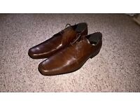 Brand new Debenhams brown leather shoes size 10