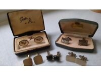 Assorted Cufflinks - 5 pairs including two original boxes.