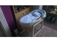Moses basket on rocker