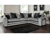 🚚Riva brand new crushed velvet corner sofa Free delivery